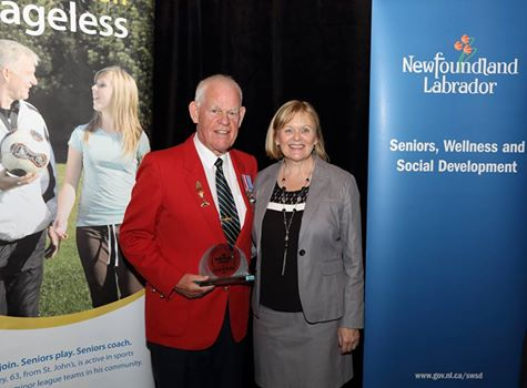 Arthur Daye and MHA Susan Sullivan - Senior Distinction Award