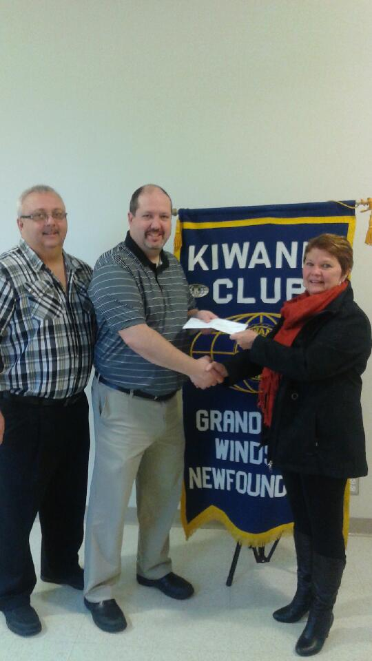 Kiwanis Club of GFW donated a $4000 dollar donation to the Kids Eat Smart radiothon for the breakfast program